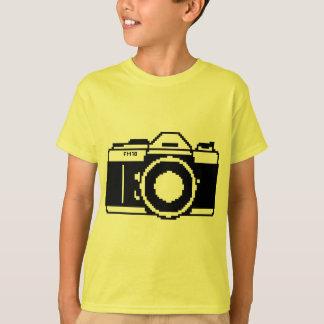 Camisa da câmera da arte do pixel