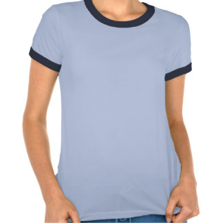 Camisa da campainha das senhoras - marinho tshirts
