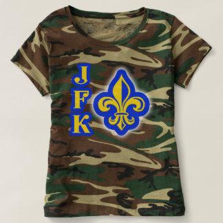 Camisa da camuflagem da flor de lis de JFK