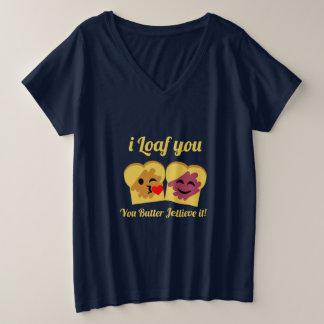 Camisa da chalaça da manteiga & da geléia de