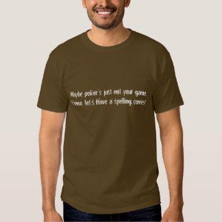 Camisa da competição de soletração da lápide do tshirts