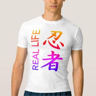 Camisa da compressão do Kanji de Ninja da vida