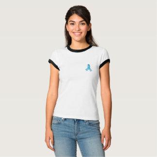 Camisa da consciência da fita azul