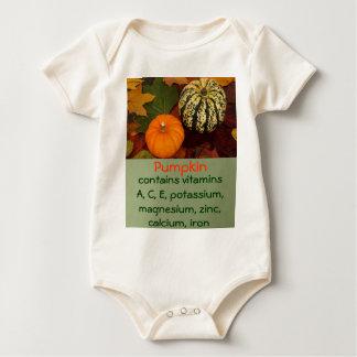 camisa da criança da abóbora babadores