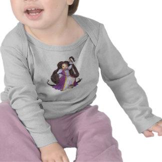 Camisa da criança da princesa de Rapunzel do afro- T-shirt