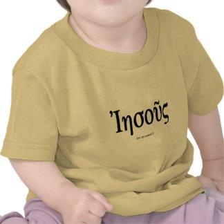 Camisa da criança de Jesus (nome no grego) Tshirts