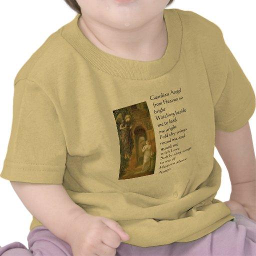 Camisa da criança do anjo-da-guarda camiseta