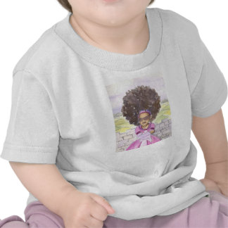 Camisa da criança do bebê do Afro de Rapunzel Camisetas