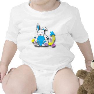 Camisa da criança do coelhinho da Páscoa Macacões