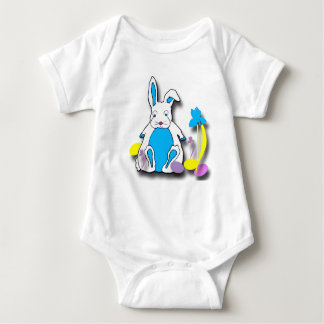 Camisa da criança do coelhinho da Páscoa Tshirt
