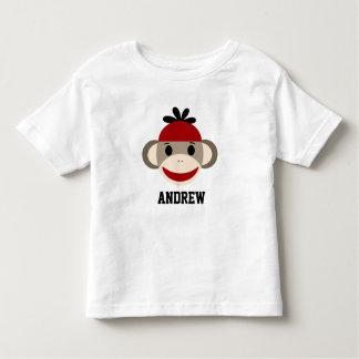 Camisa da criança do macaco da peúga