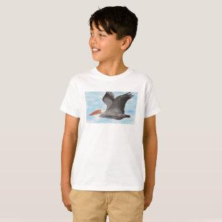Camisa da criança do pelicano de Brown