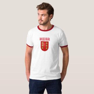 Camisa da crista da família do sobrenome de Vieira
