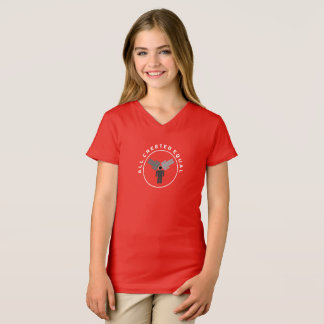 Camisa da Curto-Luva das meninas