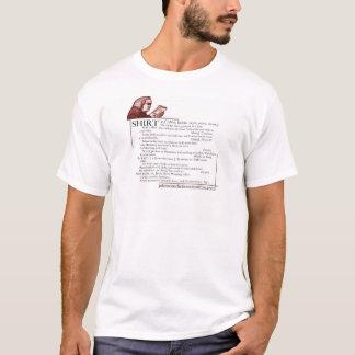 """Camisa da definição de dicionário da """"camisa"""""""