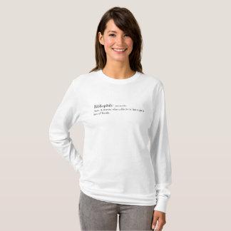 """Camisa da definição do """"Bibliophile"""", sem-fim de"""