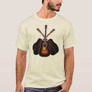 Camisa da disposição da guitarra acústica