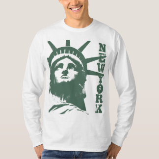 Camisa da estátua da liberdade da camisa da