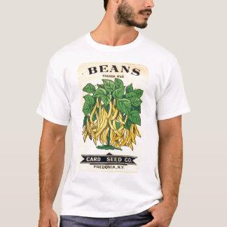 Camisa da etiqueta da semente dos feijões do