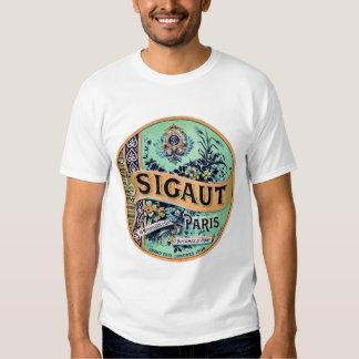 Camisa da etiqueta do vintage camiseta