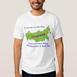Camisa da experiência da política externa t-shirt