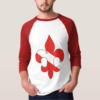 Camisa da flor de lis da bandeira do mergulho