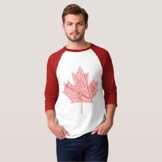 Camisa da folha de bordo de Canadá