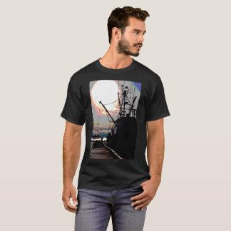 Camisa da foto do barco do caranguejo