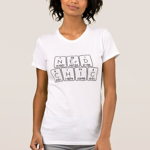 Camisa da frase da mesa periódica de NerdChic Tshirts