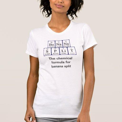 Camisa da frase da mesa periódica de separação de  t-shirt