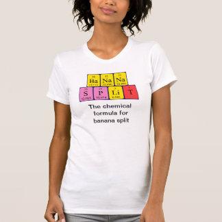 Camisa da frase da mesa periódica de separação de tshirts