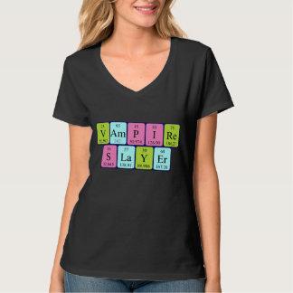 Camisa da frase da mesa periódica do assassino do t-shirt