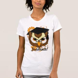 Camisa da graduação T com coruja Tshirt