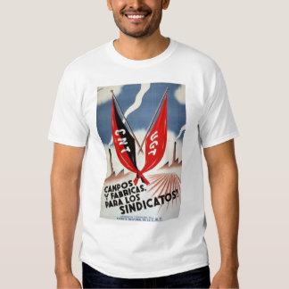 Camisa da guerra civil espanhola t-shirt