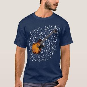 Camisa da guitarra elétrica do Sunburst