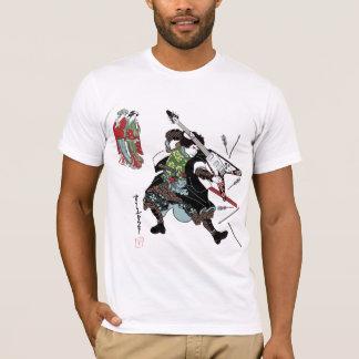 Camisa da guitarra T do samurai da rocha
