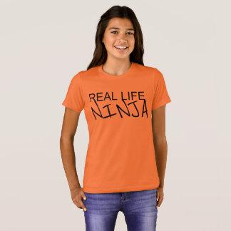 Camisa da laranja de Ninja da vida real das