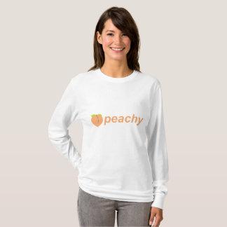 Camisa da Longo-Luva das mulheres Peachy