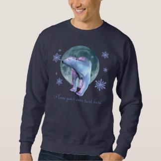 Moletom Camisa da lua do urso polar
