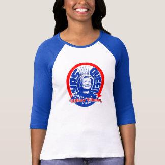 Camisa da luva do basebol da rainha Hillary