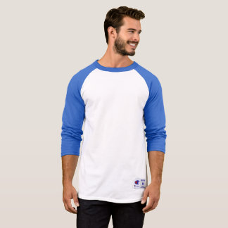 Camisa da luva do Raglan 3/4 do campeão dos