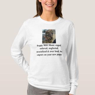 Camisa da mamã do moinho do filhote de cachorro