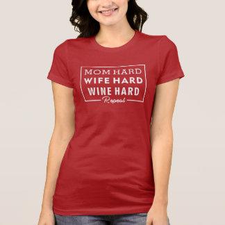 Camisa da mamã - mamã do amante de vinho