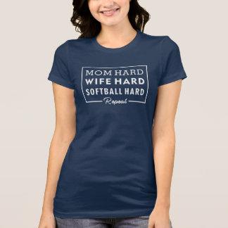 Camisa da mamã - mamã do amante do softball