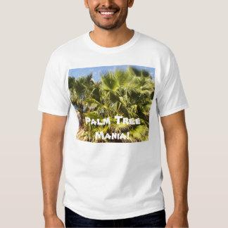 Camisa da mania da palmeira camiseta
