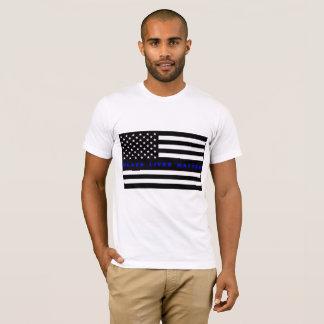 Camisa da matéria das vidas do preto da bandeira