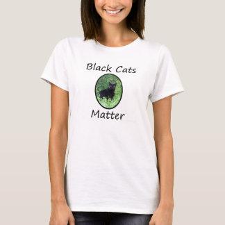 Camisa da matéria dos gatos pretos