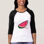 Camisa da melancia camisetas