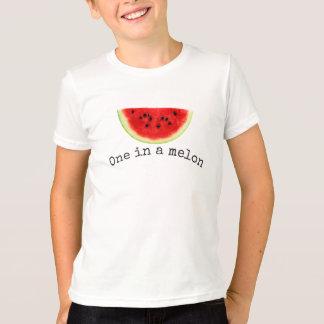 Camisa da melancia do verão de um melão do miúdo