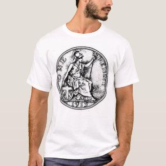Camisa da moeda de um centavo T